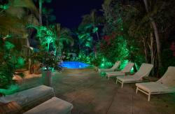 Paradera Park Lounge chairs at night