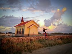 Alto Vista chapel Aruba at sunrise