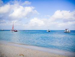 Boats at Palm Beach Aruba