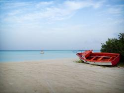 Calm waters at Fishermens Huts Aruba