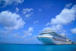 Cruise ship docked Oranjestad Aruba