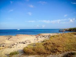 Horseriding rest spot at Malmok Aruba