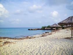 Secluded Beach at Malmok Aruba