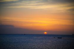 Sunset and Fisherman Aruba