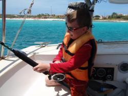 Young fisherman-gal