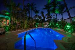 Paradera Park Poolview West at night