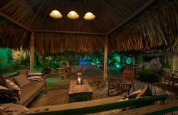 Paradera Park Cabana and Lounge Area at night