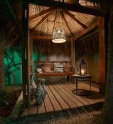 Paradera Park Cabana Suites at night